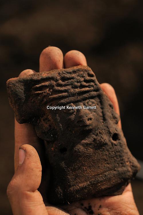 Greatest Aztecs; MM7677; Mexico City; Mexico; Aztec; Monte Tlaloc; Tlaloc Temple; Victor Arribalzaga; Teotihuacan figurine, Tlaloc, rain god