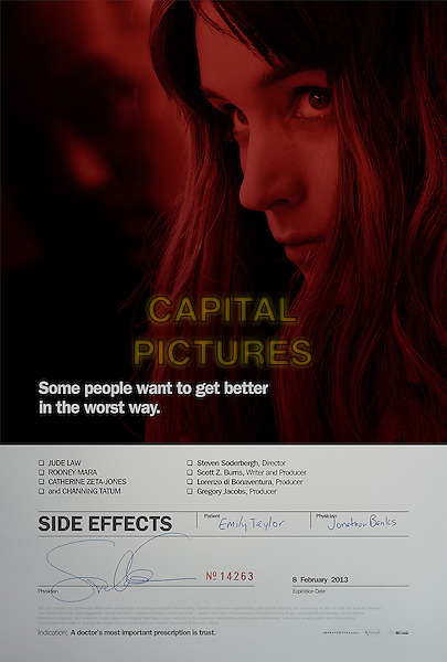 TEASER POSTER ART.in Side Effects (2013) .*Filmstill - Editorial Use Only*.CAP/FB.Supplied by Capital Pictures.