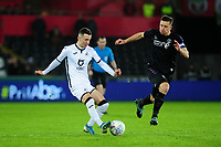 Bersant Celina of Swansea City in action during the Sky Bet Championship match between Swansea City and Charlton Athletic at the Liberty Stadium in Swansea, Wales, UK.  Thursday 02 January 2020