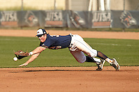 SAN ANTONIO, TX - MARCH 15, 2014: The Columbia University Lions versus the University of Texas at San Antonio Roadrunners Baseball at Roadrunner Field. (Photo by Jeff Huehn)