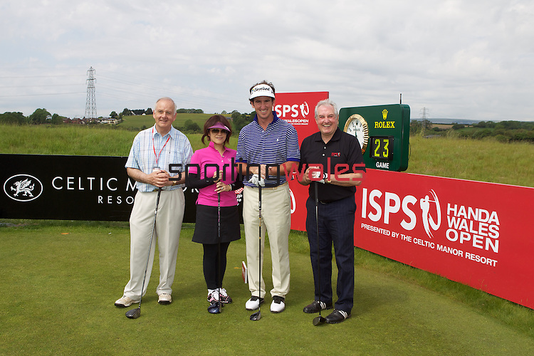 ISPS Handa Wales Open 2012.Pro-Am team of Gonzalo Fdez-Castano with Gareth Edwards, Archbishop Barry Morgan and Midori Miyazaki from ISPS....30.05.12.©Steve Pope