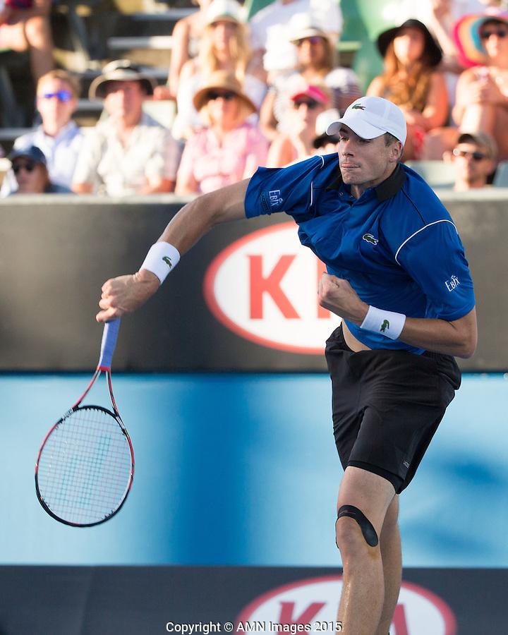 John Isner (USA)<br /> <br /> Tennis - Australian Open 2015 - Grand Slam -  Melbourne Park - Melbourne - Victoria - Australia  - 24 January 2015. <br /> &copy; AMN IMAGES