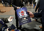 Tottenham's fans buy a programme during the Champions League group E match at the Wembley Stadium, London. Picture date November 2nd, 2016 Pic David Klein/Sportimage