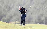 Ryan Chisnall. Jennian Homes Charles Tour Autex Muriwai Open, Muriwai Links Golf Course, Muriwai, Auckland, New Zealand,Friday 13 April 2018. Photo: Simon Watts/www.bwmedia.co.nz