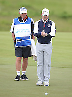 Paul Maddy (ENG) and caddie Steve Tooby during Round Two of the 2015 Nordea Masters at the PGA Sweden National, Bara, Malmo, Sweden. 05/06/2015. Picture David Lloyd | www.golffile.ie