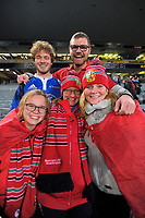 Lions fans keep grinning after the 2017 DHL Lions Series rugby union match between the Blues and British & Irish Lions at Eden Park in Auckland, New Zealand on Wednesday, 7 June 2017. Photo: Dave Lintott / lintottphoto.co.nz