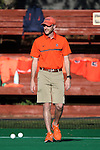 23 September 2016: Syracuse assistant coach Allan Law. The University of North Carolina Tar Heels hosted the Syracuse University Orange at Francis E. Henry Stadium in Chapel Hill, North Carolina in a 2016 NCAA Division I Field Hockey match. UNC won the game 3-2 in two overtimes.