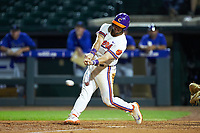 Andrew Cox (6) of the Clemson Tigers at bat against the Duke Blue Devils in Game Three of the 2017 ACC Baseball Championship at Louisville Slugger Field on May 23, 2017 in Louisville, Kentucky. The Blue Devils defeated the Tigers 6-3. (Brian Westerholt/Four Seam Images)
