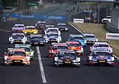 June 17th 2017, Hunaroring, Budapest, Hungary; DTM Motor racing series;  53 Jamie Green (GBR, Audi Team Rosberg, Audi RS5 DTM), 33 Rene Rast (GER, Audi Sport Team Rosberg, Audi RS5 DTM), 5 Mattias Ekstršm (SWE, Audi Sport Team Abt, Audi RS5 DTM)