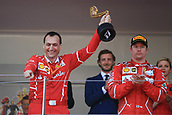 May 28th 2017, Monaco; F1 Grand Prix of Monaco Race Day;  Riccardo Adami - Vettel race engineer with winners trophy