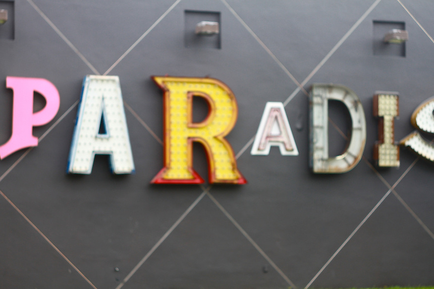 paradise vintage sign at the miami moca museum
