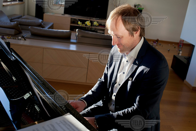 The Estonian government's chief information officer Taavi Kotka at his home near Tallinn.