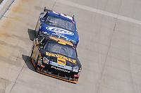 Jun 1, 2008; Dover, DE, USA; NASCAR Sprint Cup Series driver Matt Kenseth (17) leads Kurt Busch (2) during the Best Buy 400 at the Dover International Speedway. Mandatory Credit: Mark J. Rebilas-US PRESSWIRE