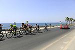 Benjamin King (USA) Team Dimension Data, Nikita Stalnov (KAZ) Astana Pro Team, Polka Dot Jersey  Luis Angel Mat&eacute; (ESP) Cofidis, Jelle Wallays (BEL) Lotto-Soudal, Lars Boom (NED) LottoNL-Jumbo, Oscar Cabedo Carda (ESP) Burgos BH, Aritz Bagues (ESP) Euskadi-Murias and Ben Gastauer (LUX) AG2R La Mondiale form the break at the start of Stage 4 of the La Vuelta 2018, running 162km from Velez-Malaga to Alfacar, Sierra de la Alfaguara, Andalucia, Spain. 28th August 2018.<br /> Picture: Ann Clarke   Cyclefile<br /> <br /> <br /> All photos usage must carry mandatory copyright credit (&copy; Cyclefile   Ann Clarke)
