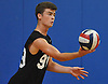 Tommy Renick #99 of Lindenhurst serves a ball into play during the round-robin portion of a Suffolk County varsity boys volleyball tournament match against Connetquot at Northport High School on Saturday, Sept. 10, 2016.