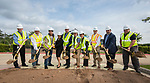 Groundbreaking ceremony for new Sam Houston Math, Science and Technology Center School, March 24, 2017.