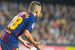 Jordi Alba Ramos of FC Barcelona is seen during the La Liga 2017-18 match between Valencia CF and FC Barcelona at Estadio de Mestalla on November 26 2017 in Valencia, Spain. Photo by Maria Jose Segovia Carmona / Power Sport Images