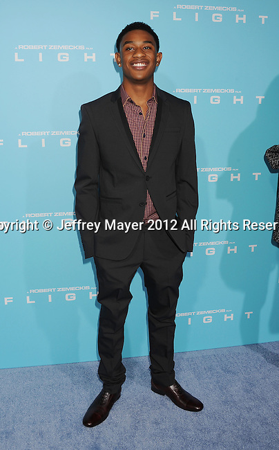 HOLLYWOOD, CA - OCTOBER 23: Justin Martin arrives at the 'Flight' - Los Angeles Premiere at ArcLight Cinemas on October 23, 2012 in Hollywood, California.