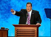 Governor Chris Christie (Republican of New Jersey) delivers the Keynote Address at the 2012 Republican National Convention in Tampa Bay, Florida on Tuesday, August 28, 2012.  .Credit: Ron Sachs / CNP.(RESTRICTION: NO New York or New Jersey Newspapers or newspapers within a 75 mile radius of New York City)