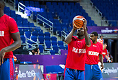 7th September 2017, Fenerbahce Arena, Istanbul, Turkey; FIBA Eurobasket Group D; Russia versus Great Britain; Point Guard Jules Dang #0 of Great Britain warms up before the start of the match