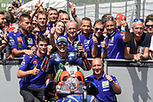 June 4th 2017, Mugello Circuit, Tuscany, Italy; MotoGP Grand Prix of Italy, Race day; Maverick Vinales at parc ferme as he finishes in 2nd place