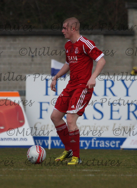 Craig Storie in the Aberdeen v St Mirren Clydesdale Bank Scottish Premier League Under 20 match played at Balmoor Stadium, Peterhead on 19.4.13.