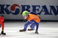 SCHAATSEN: DORDRECHT: Sportboulevard, Korean Air ISU World Cup Finale, 10-02-2012, Sjinkie Knegt NED (62), ©foto: Martin de Jong