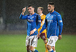 St Johnstone v Motherwell....31.10.14   SPFL<br /> Michael O'Halloran gives the thumbs up at full time<br /> Picture by Graeme Hart.<br /> Copyright Perthshire Picture Agency<br /> Tel: 01738 623350  Mobile: 07990 594431