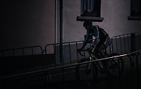Gianni Vermeersch (BEL/Steylaerts-Verona) in the dark<br /> <br /> Elite Men's Race<br /> Superprestige Diegem / Belgium 2017
