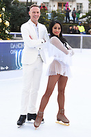 "Antony Cotton and Brandee Malto<br /> at the ""Dancing on Ice"" launch photocall, natural History Museum, London<br /> <br /> <br /> ©Ash Knotek  D3365  19/12/2017"