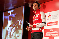 The test driver for Ferrari Pedro de la Rosa during the gala Santander  Karting Champions 2012..(Alterphotos/Acero) NortePhoto