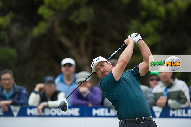 Graeme McDowell (NIR) during the final round at the ISPS Handa World Cup of Golf, from Kingston heath Golf Club, Melbourne Australia. 27/11/2016<br /> Picture: Golffile | Anthony Powter<br /> <br /> <br /> All photo usage must carry mandatory copyright credit (&copy; Golffile | Anthony Powter)