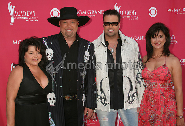 15 May 2007 - Las Vegas, Nevada - Eddie Montgomery and Troy Gentry of 'Montgomery Gentry' and wives. 42nd Annual Academy Of Country Music Awards held at the MGM Grand Garden Arena. Photo Credit: Byron Purvis/AdMedia