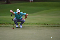 Rory McIlroy (NIR) lines up his putt on 12 during round 2 of the 2019 Tour Championship, East Lake Golf Course, Atlanta, Georgia, USA. 8/23/2019.<br /> Picture Ken Murray / Golffile.ie<br /> <br /> All photo usage must carry mandatory copyright credit (© Golffile | Ken Murray)