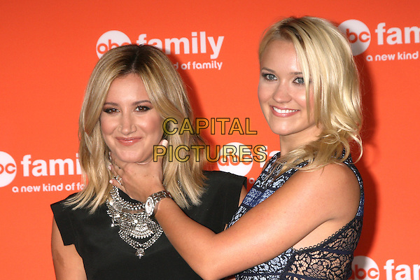 BEVERLY HILLS, CA - July 15: Ashley Tisdale, Emily Osment at the ABC July 2014 TCA, Beverly Hilton, Beverly Hills,  July 15, 2014. <br /> CAP/MPI/JO<br /> &copy;JO/MPI/Capital Pictures