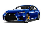 Stock pictures of low aggressive front three quarter view of a 2018 Lexus GS F 4 Door Sedan