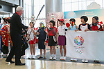 Craig Reedie, MARCH 6, 2013 : The Japanese junior athlete welcomed International Olympic Committee Vice President Craig Reedie and IOC Evaluation Commission menber at Tokyo Bigsight, Tokyo, Japan. The IOC evaluation commission, led by Reedie, began a four-day inspection of Tokyo's bid to host the 2020 Olympics. (Photo by Yusuke NakanishiAFLO SPORT)