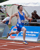Haryl Starkey anchors Bolivar to 7th place in the Class 3 Boys 4x200 relay in 1:31.36.