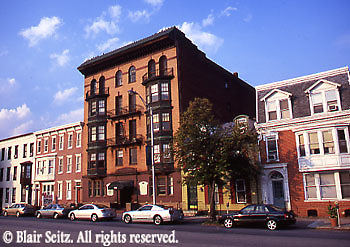 Harrisburg, PA, Midtown, 2nd Street, Historic Houses, Cityscapes