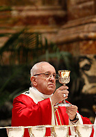 Pope Francis celebrates a Mass for the Cardinals and Bishops who have died over the course of the year, in St. Peter's Basilica at the Vatican, November 3, 2018.<br /> UPDATE IMAGES PRESS/Riccardo De Luca<br /> <br /> STRICTLY ONLY FOR EDITORIAL USE