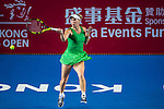Caroline Wozniacki of Denmark vs Heather Watson of United Kingdom during their Singles Round 2 match at the WTA Prudential Hong Kong Tennis Open 2016 at the Victoria Park Tennis Stadium on 13 October 2016 in Hong Kong, China. Photo by Marcio Rodrigo Machado / Power Sport Images