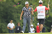 Poor Saksansin (THA) on the 6th green during Round 4 of the UBS Hong Kong Open, at Hong Kong golf club, Fanling, Hong Kong. 26/11/2017<br /> Picture: Golffile | Thos Caffrey<br /> <br /> <br /> All photo usage must carry mandatory copyright credit     (&copy; Golffile | Thos Caffrey)