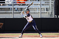 DURHAM, NC - FEBRUARY 29: Katie Marino #27 of the University of Notre Dame waits for a pitch during a game between Notre Dame and Duke at Duke Softball Stadium on February 29, 2020 in Durham, North Carolina.