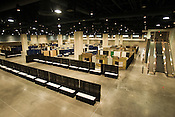 Inside Raleigh's new convention center.