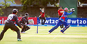 ICC World T20 Qualifier - GROUP B MATCH - AFGHANISTAN v UAE at Grange CC, Edinburgh - Afghanistan's Asghar Stanikzai hits out as his side beat the UAE — credit @ICC/Donald MacLeod - 10.07.15 - 07702 319 738 -clanmacleod@btinternet.com - www.donald-macleod.com