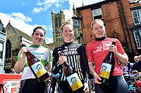 Picture by Allan McKenzie/SWpix.com - 14/05/2017 - Cycling - HSBC UK British Cycling -  National Women's Road Series - Lincoln Grand Prix -  Podium Alice Barnes, Emily Nelson and Lydia Boylan