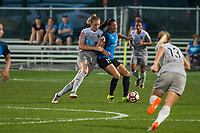 Kansas City, MO - Thursday August 10, 2017: Samantha Mewis, Brittany Taylor during a regular season National Women's Soccer League (NWSL) match between FC Kansas City and the North Carolina Courage at Children's Mercy Victory Field.
