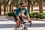 Race leader Green Jersey Nacer Bouhanni (FRA) Team Arkea Samsic before the start of Stage 5 of the Saudi Tour 2020 running 144km from Princess Nourah University to Al Masmak, Saudi Arabia. 8th February 2020. <br /> Picture: ASO/Kåre Dehlie Thorstad   Cyclefile<br /> All photos usage must carry mandatory copyright credit (© Cyclefile   ASO/Kåre Dehlie Thorstad)