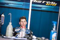 In his box at pre season winter test IRTA Moto3 & Moto2 at Ricardo Tormo circuit in Valencia (Spain), 11-12-13 February 2014