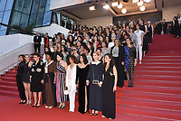 CANNES, FRANCE - MAY 12: Jury head Cate Blanchett with other filmmakers reads a statement on the steps of the palais in protest of the lack of female filmmakers honoured throughout the history of the festival at the screening of 'Girls Of The Sun (Les Filles Du Soleil)' during the 71st annual Cannes Film Festival at Palais des Festivals on May 12, 2018 in Cannes, France.<br /> CAP/PL<br /> &copy;Phil Loftus/Capital Pictures